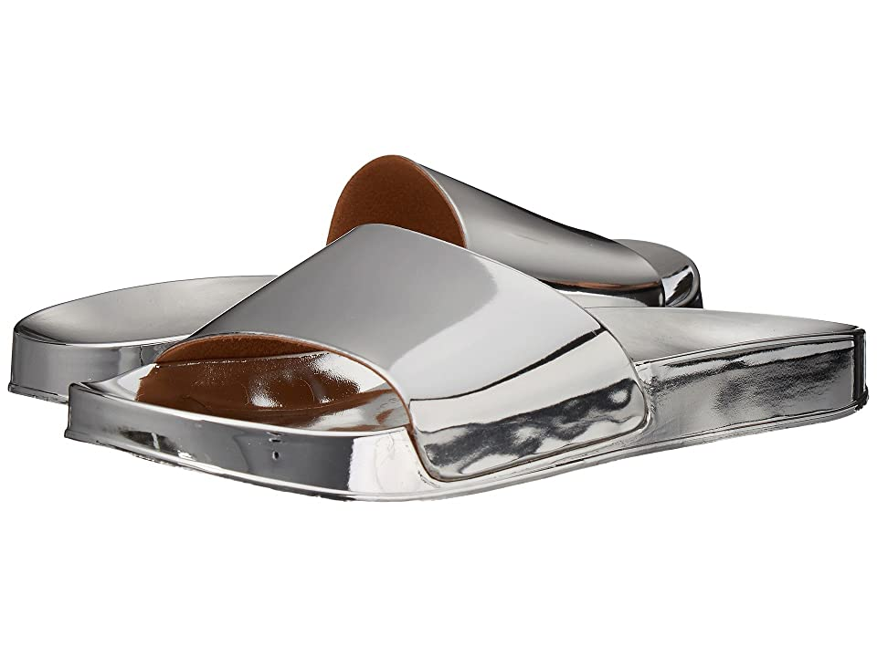 Dirty Laundry My Fav Metallic Pool Slide (Silver) Women
