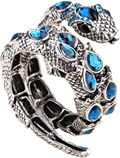 YACQ Women's Crystal Stretch Snake Bracelet Fit Wrist Size 6-1/2 to 8 Inch - Lead & Nickle Free - Halloween Costume Outfit Accessories Jewelry