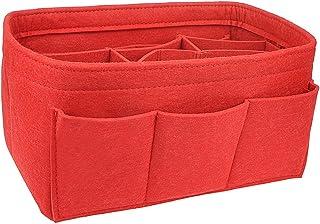 APSOONSELL Lightweight Felt Handbag Organiser for Women, Tidy Bag Storage Organizers Accessories - Red M
