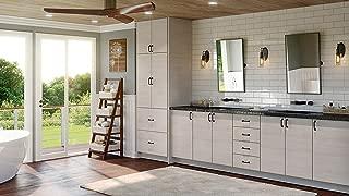 Modern Grey Wood Kitchen Cabinet Textured Woodgrain Scribe Molding 96