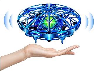 UTTORA Mini Drone para Niños Flying Toy Recargable UFO Helicóptero 360°Rotación Libre A Mano Drones Regalos para Niños Niñ...