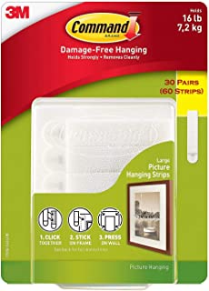 Command Damage Free Picture and Frame Hanging 679RJ, Large Strips (48 Pairs)