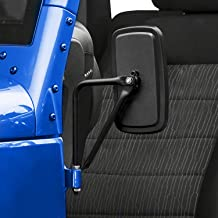 SEVENS Shake-proof Door Off Mirrors for 2007-2020 Jeep Wrangler JK, JL & JT Quick Release Side View Mirrors