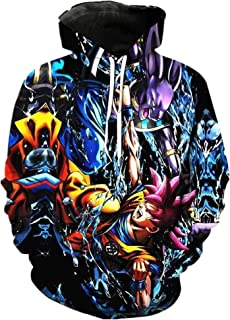 Dragon Ball Pullover Sweatshirts Son Goku Vegeta 3D Hoodies Outerwear Sweatshirt