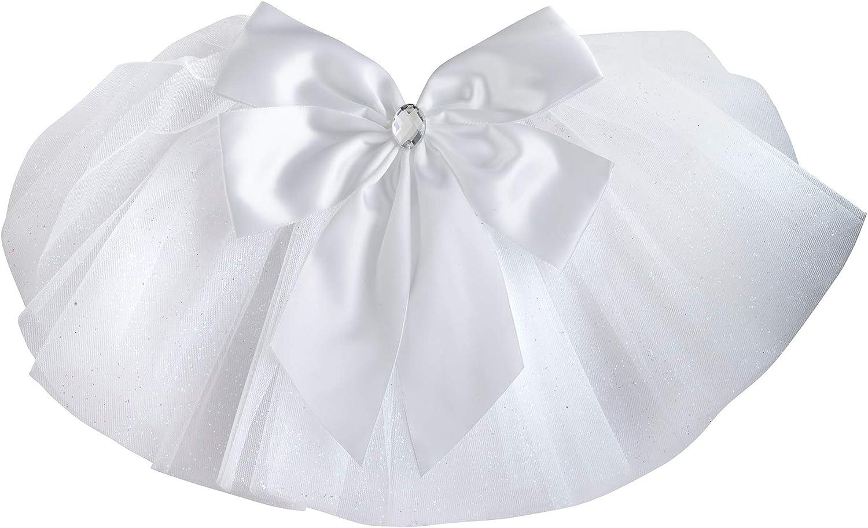 Lillian Rose White Wedding Party Bride's Swimsuit Veil, 8.5