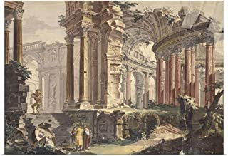 GREATBIGCANVAS Poster Print Entitled Perspective of Classic Ruins, by Francis Chiarotti, 18th C. by Francis Chiarotti 30