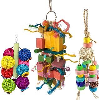UTST 鳥用 おもちゃ バードトイ 鳥グッズ インコ オウム ヨウム ブンチョウ に (3点セット)