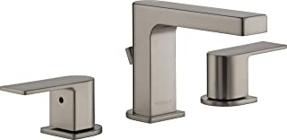 Peerless Xander 2-Handle Widespread Bathroom Faucet with Pop-Up Drain Assembly, Brushed Nickel P3519LF-BN