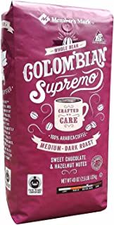 Member's Mark Fair Trade Certified Colombian Supremo Coffee, Whole Bean (40 oz.) ES