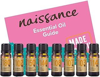 Naissance Set Aromaterapia Purificante y Depurante Top 8 Aceites Esenciales - Ciprés, limón, menta, romero, albahaca, eucalipto citriodora, lavanda, cedro del Himalaya.