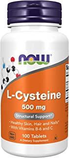 NOW Supplements, L-Cysteine 500 mg with Vitamins B-6 and C, Structural Support*, 100 Tablets