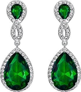 Austrian Crystal Zircon Wedding 8-Shaped Pierced Dangle Earrings