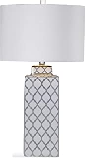 Sydney Table Lamp in Silver and White