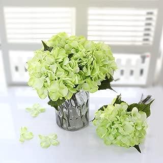 Veryhome Hydrangea Artificial Silk Fake Flower Bunch Bouquet Arrangements for Home Wedding Garden Floral Decor Pack of One(Green)