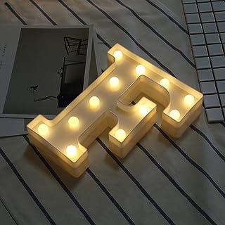 Ceally Luces LED, 26 Letras, lámparas de Modelado de Moda, Decoraciones para Casas de Vacaciones