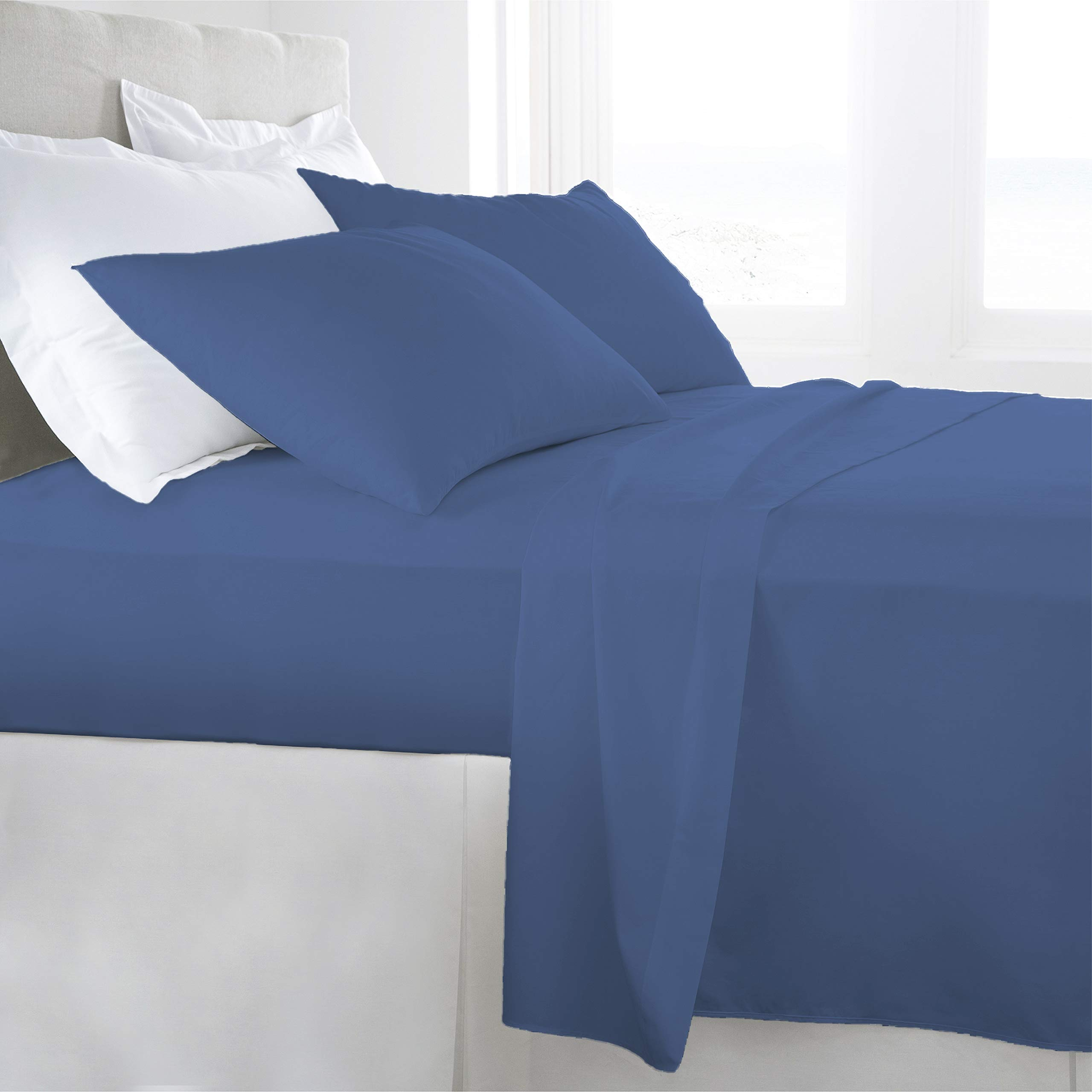 1000TC Elastic All Around Fitted Sheet Egyptian Cotton Queen Size Select Colors