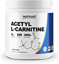 Nutricost Acetyl L-Carnitine (ALCAR) 250 Grams- 1G Per Serving - 250 Servings