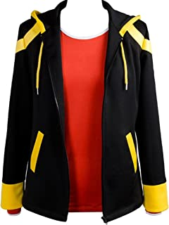 Cosplay Costume Black Casual Jacket with Red Tshirt Suit