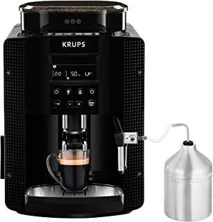 Krups Essential EA81M8 - Cafetera superautomática, accesorio leche, depósito de agua 1.7 l, 3 niveles de temperatura, 3 te...
