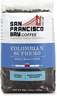 San Francisco Bay Coffee, Colombian Supremo - Whole Bean, 2-Pound (32 oz.)