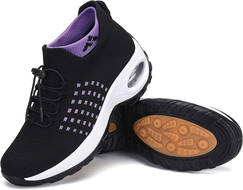 Women's Walking Shoes Max 63% OFF Sock Sneakers Slip Sacramento Mall Air Mesh on Com Cushion
