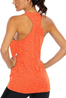ICTIVE Workout Tank Tops for Women Loose fit Yoga Tops for Women Running Tank Tops Racerback Tank Tops Backless Muscle Tanks