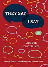 They Say/I Say: Across Disciplines (4th Edition)