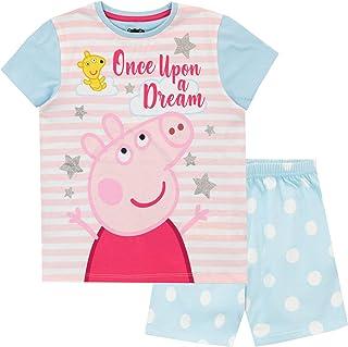 Peppa Pig Pijamas de Manga Corta para niñas