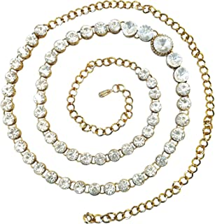 Peora Traditional Jewellery 18K Gold Plated White Kundan Baby Pearl Waist Belt Kamarband Belly Chain for Women Girls
