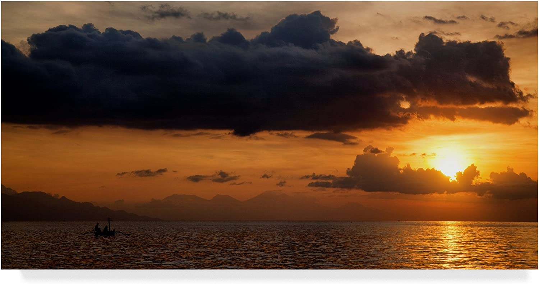 Trademark Fine Art Panorama Sunset No 1 by István Nagy 1, 10x19Inch, Multicolor