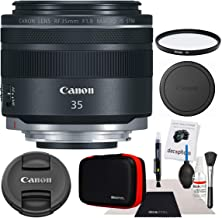 Canon RF 35mm f/1.8 Macro is STM for EOS R Full-Frame Mirrorless Cameras 2973C002 with 52mm Multicoated UV Protective Filter and Deco Gear Photography Cleaning Kit Case Pro Bundle