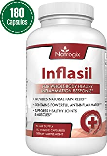 Natrogix Powerful Anti Inflammatory Supplements - Support for Healthy Joint & Muscle Growth, Natural Pain Relief (180 Veggie Capsules)
