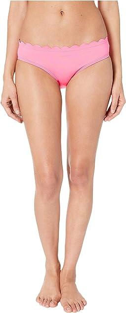 Core Solids #79 Scalloped Hipster Bikini Bottom