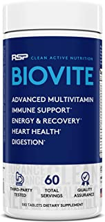 RSP BioVite - Advanced Multivitamin for Immunity Support, Energy, Recovery, and Heart Health - Innovative Formula to Suppo...