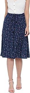 oxolloxo Women's Polka Print Skirt (Blue)