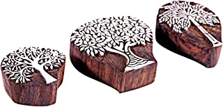 Hashcart Christmas Gifts Hand-Carved Printing Blocks/Stamps Used for Printing On Fabric/Scrapbook/Saree Border