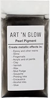 Mica Pearl Pigment Powder (Black) - (.88 Ounce/25 Grams) - 10+ Colors Available