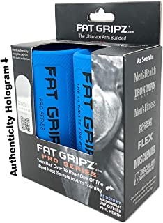 """Fat Gripz - The Simple Proven Way to Get Big Biceps & Forearms Fast (Winner of The Men's Health Magazine Home Gym Award 2020) (2.25"""" Outer Diameter) (Thick Bar Grips)"""