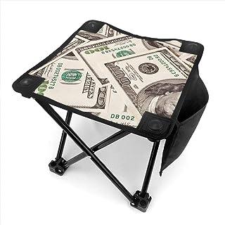 アウトドア 椅子 100ドル紙幣 アウトドア 椅子 ピクニック 釣り コンパクト イス 持ち運び キャンプ用軽量 収納バッグ付き 折りたたみチェア レジャー 背もたれなし