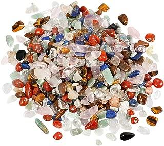 mookaitedecor 1 Pound Assorted Stone Tumbled Chip Stones Crushed Tumblestone Crystals Healing Home Decoration