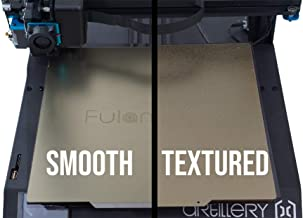 Fulament Powder Coated/Smooth Double Sided PEI Flex Plate 235mm x 235mm for 3D Printing and Magnetic Sticker with 3M Adhesive (Fits Cr10, Tevo Tornado, Nereus, Anet A8+, E12, and etc.)