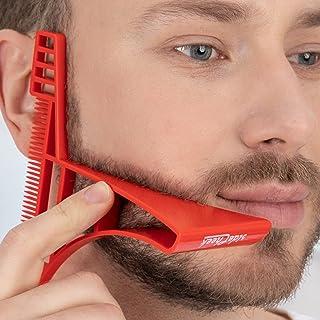 SideCheek Beard Shaper, Shaping Tool, Shaving Template/Stencil & Guide | Beard Lineup Tool for a Symmetric Curved or Step ...