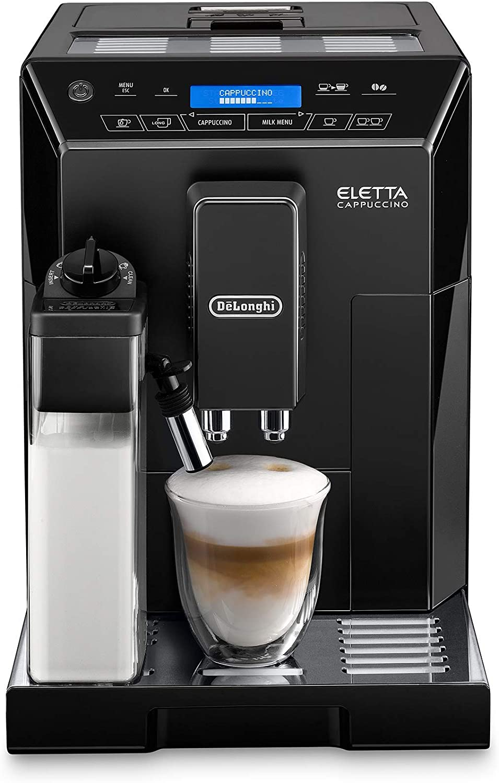 DeLonghi Eletta Black Cappuccino Top Digital Super Automatic Machine