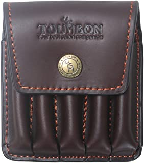 Hunting Genuine Leather Rifle Cartridge Holder 5 Round Ammo Wallet Pouch