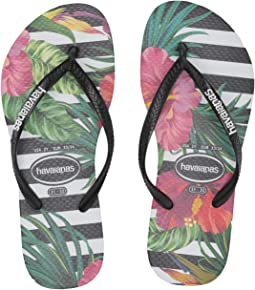 11bcb9639 Black Black Imperial Palace. 91. Havaianas Kids. Slim Tropical Floral Flip- Flop (Toddler Little ...