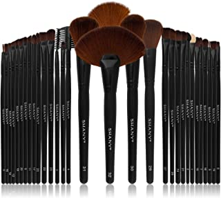 SHANY Professional Brush Set with Leather-Look Pouch, 32 Count Goat & Badger