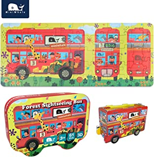 Floor Puzzles for Kids Cars Puzzle Suitable for Children Aged 3-8, Can Assemble Stereo Cars Promote Children's Intellectual Development and Improve Their Imagination,(61Pcs)