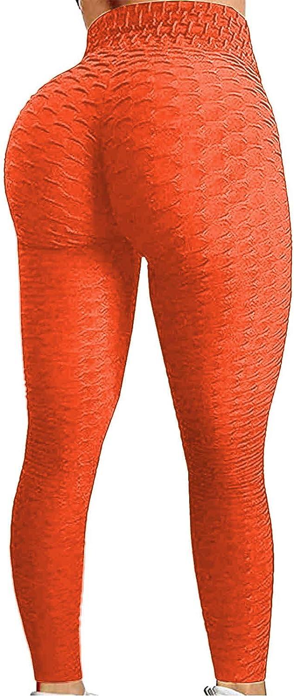 Over item handling ☆ DcoolMoogl Women's Textured Butt Lifting Leggings It is very popular Wais Yoga High