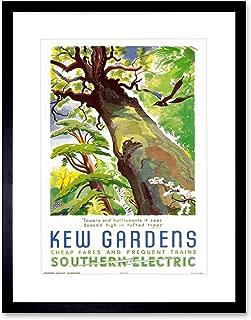 The Art Stop Vintage Travel KEW Gardens Southern Electric Tree Bird Framed Print B12X11920