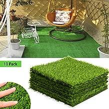 Anothera Artificial Garden Grass 10 Pack Life-Like Fairy Artificial Grass Lawn 11.6 x 11.6 Inches Miniature Ornament Garden Dollhouse DIY Grass